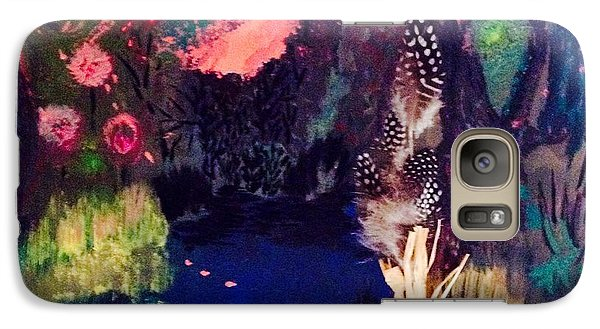 Galaxy Case featuring the painting  My Pond by Vanessa Palomino