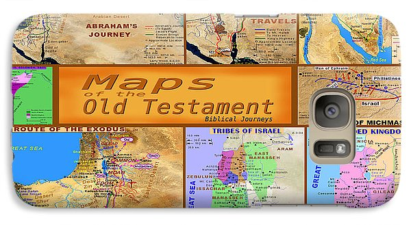 Galaxy Case featuring the photograph  Old Testament Maps by Bob Pardue