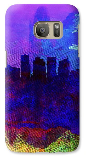 Phoenix Watercolor Skyline 1 Galaxy Case by Naxart Studio