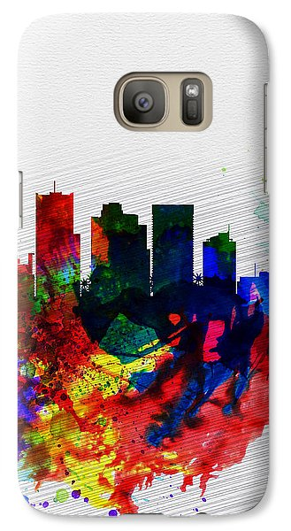 Phoenix Watercolor Skyline 2 Galaxy Case by Naxart Studio