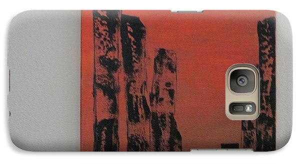 Galaxy Case featuring the painting  Portals by Sharyn Winters