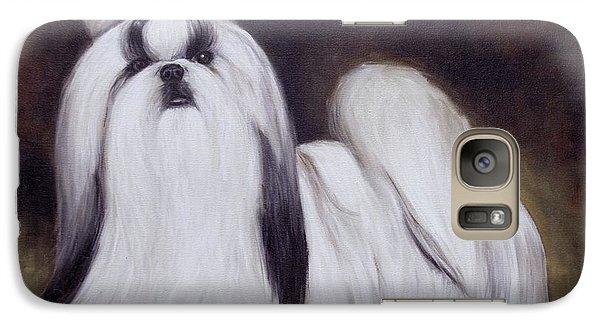 Galaxy Case featuring the painting  Pretty Showdog Shih Tzu by Melinda Saminski