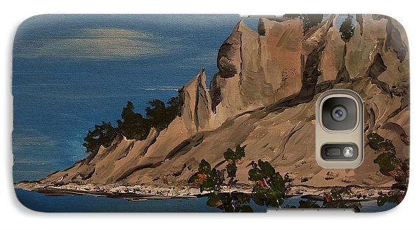 Galaxy Case featuring the painting  Ptg. Chimney Bluffs by Judy Via-Wolff