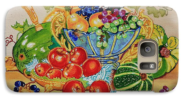 Galaxy Case featuring the painting  Red Apples And  Grapes Oil Painting by Johanna Bruwer