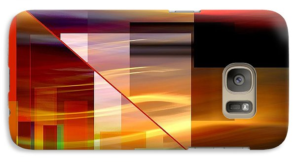 Galaxy Case featuring the mixed media  Red Desert Cosmopolis by Terence Morrissey