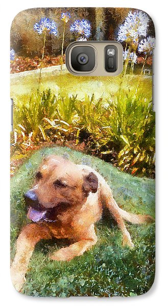 Galaxy Case featuring the painting Alameda Rufus by Linda Weinstock