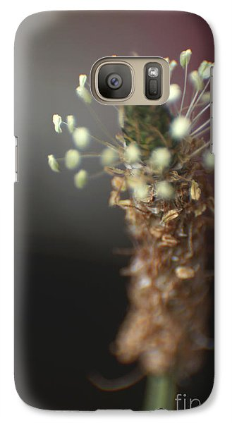 Galaxy Case featuring the photograph  Ribwort Plantain Flower by Eden Baed