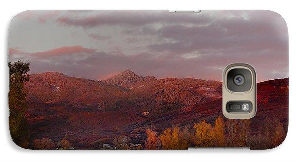 Galaxy Case featuring the photograph  Rocky Peak Autumn Sunset by Daniel Hebard