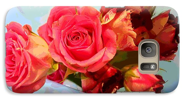 Galaxy Case featuring the photograph  Roses 4 Lovers  by Rogerio Mariani
