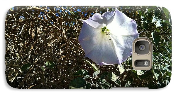 Galaxy Case featuring the photograph  Sacred Datura by Angela J Wright