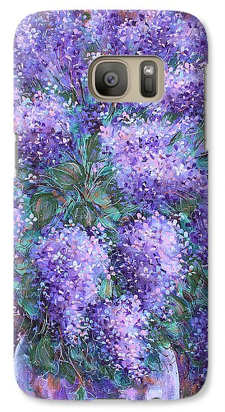 Galaxy Case featuring the painting  Scented Lilacs Bouquet by Natalie Holland