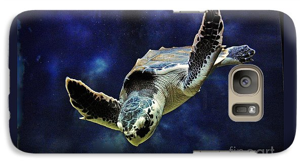 Galaxy Case featuring the photograph  Sea Turtle by Savannah Gibbs