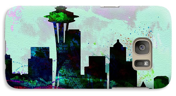 Seattle City Skyline Galaxy Case by Naxart Studio