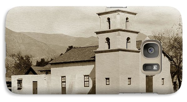 Galaxy Case featuring the photograph  St. Thomas Aquinas Catholic Church  Ojai Cal 1920 by California Views Mr Pat Hathaway Archives
