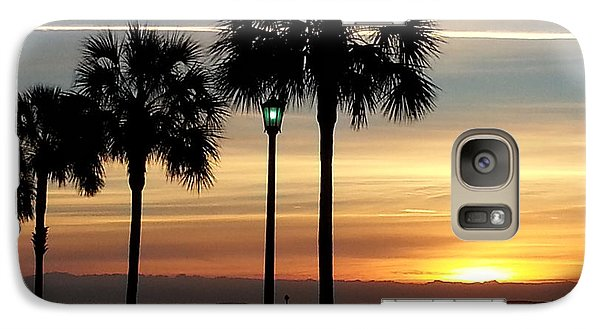 Galaxy Case featuring the photograph  Sunrise Beyond Carolina  Palms by Joetta Beauford