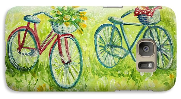 Galaxy Case featuring the painting  Sweet Bike Ride Picnic by Elizabeth Robinette Tyndall