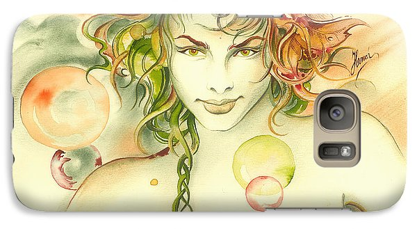 Galaxy Case featuring the painting  The Capricorn by Anna Ewa Miarczynska