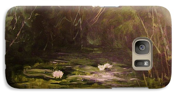 Galaxy Case featuring the painting   The  Secret  Place by Beth Arroyo