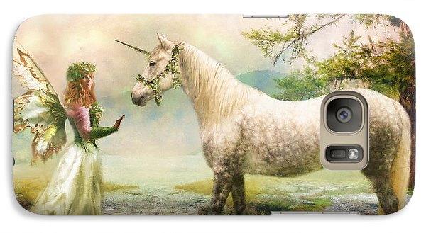 Galaxy Case featuring the photograph  The Unicorn Fairy by Trudi Simmonds