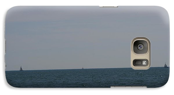 Galaxy Case featuring the photograph  Four Yachts At Sea by Phoenix De Vries