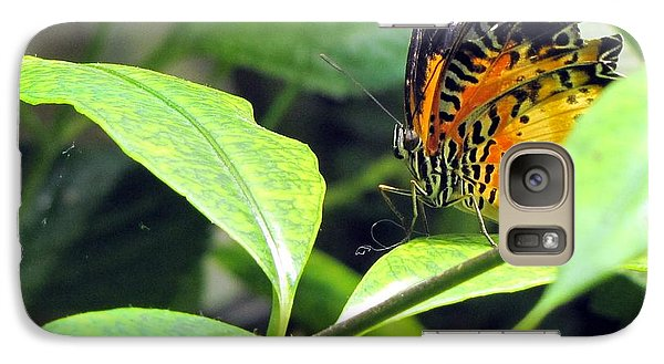 Galaxy Case featuring the photograph  Tiger Wings by Jennifer Wheatley Wolf