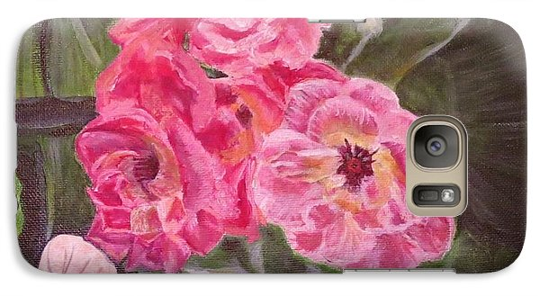 Galaxy Case featuring the painting  Touch Of The Roses Painting by Kimberlee Baxter
