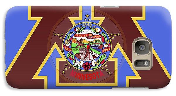 U Of M Minnesota State Flag Galaxy S7 Case by Daniel Hagerman