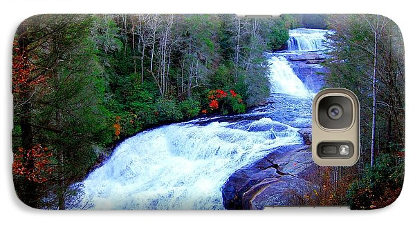 Galaxy Case featuring the photograph  Waterfall At Dupont Forest Nc 2 by Annie Zeno