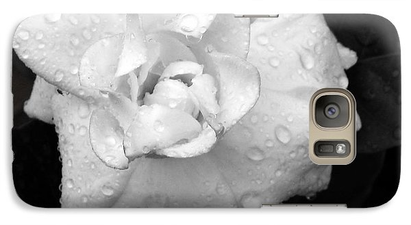 Galaxy Case featuring the photograph  White Drops by Michelle Meenawong
