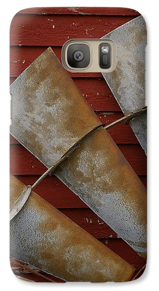 Galaxy Case featuring the photograph  Windfan Leaning by Randy Pollard