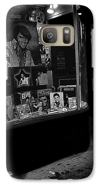 Galaxy Case featuring the photograph  Window Display Night Of Elvis Presley's Death Recordland Portland Maine  1977 by David Lee Guss