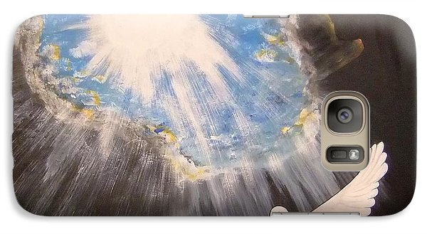 Galaxy Case featuring the painting  Wings Of A Dove by Cindy Micklos