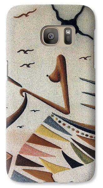 Galaxy Case featuring the photograph  Woman And Child by Fania Simon