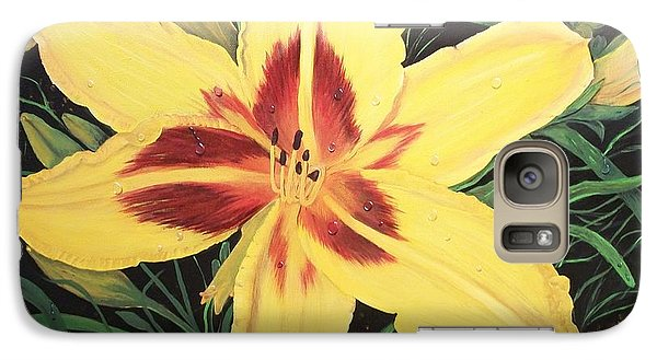 Galaxy Case featuring the painting  Yellow Lily by Sharon Duguay