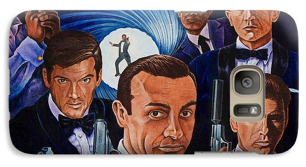 Galaxy Case featuring the painting 007 by Michael Frank