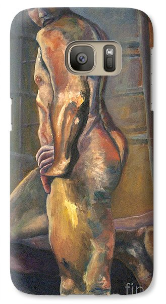 Galaxy Case featuring the painting 01286 I Know by AnneKarin Glass