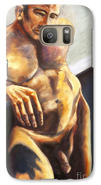 Galaxy Case featuring the painting 01292 What If by AnneKarin Glass