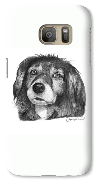 Galaxy Case featuring the drawing 027 - Miss Mindy by Abbey Noelle