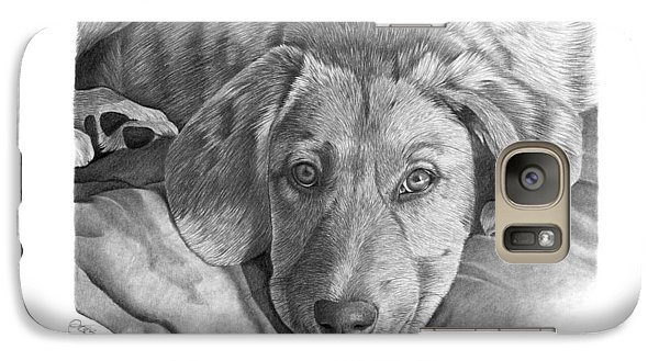 Galaxy Case featuring the drawing 033 - Molly by Abbey Noelle