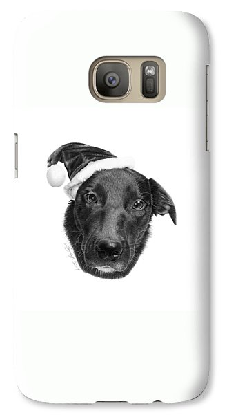 Galaxy Case featuring the drawing 039 - 2014 Emmie Christmas by Abbey Noelle