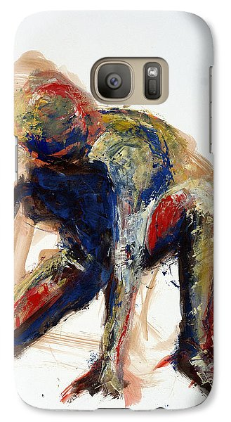 Galaxy Case featuring the painting 04781 Dropped It by AnneKarin Glass