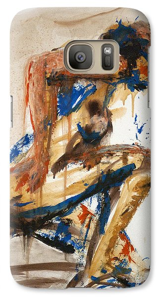 Galaxy Case featuring the painting 04864 Runner by AnneKarin Glass