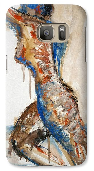 Galaxy Case featuring the painting 04866 Racer by AnneKarin Glass