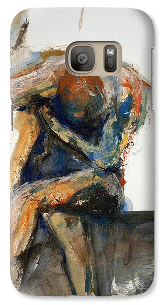 Galaxy Case featuring the painting 04868 Confusion by AnneKarin Glass