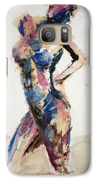 Galaxy Case featuring the painting 04869 Well Now by AnneKarin Glass