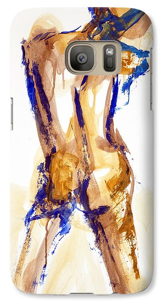 Galaxy Case featuring the painting 04879 Free Thinker by AnneKarin Glass