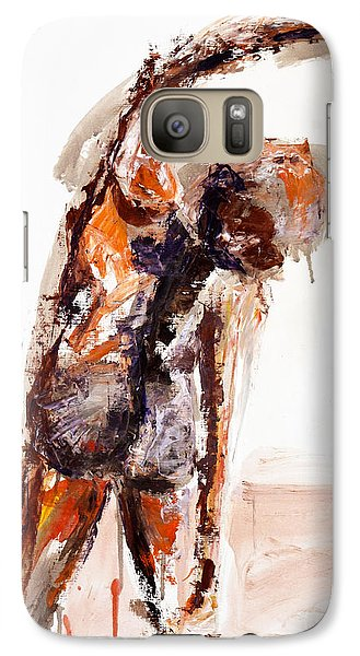 Galaxy Case featuring the painting 04891 Taken Aback by AnneKarin Glass