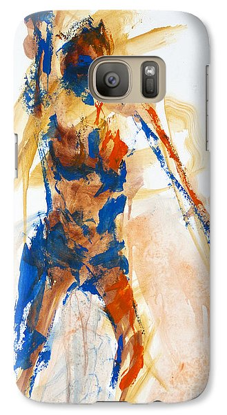 Galaxy Case featuring the painting 04897 Announcement by AnneKarin Glass