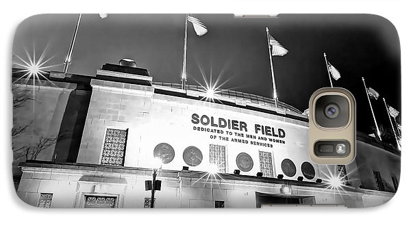 Soldier Field Galaxy S7 Case - 0879 Soldier Field Black And White by Steve Sturgill