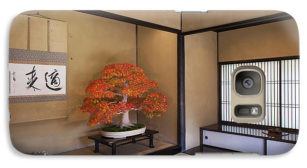 Galaxy Case featuring the photograph  Alcove With A Bonsai by Tad Kanazaki